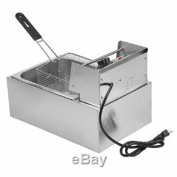 10/13/26L Electric Deep Fryer Countertop Home Commercial Restaurant Tool BR