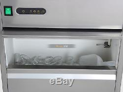 120lbs/day Large Commercial Stainless Steel Ice Maker Auto Bullet Machine 110V