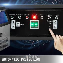 132lb Ice Maker Ice Cube Making Machine 60kg Stainless Steel 5X8PCS LED Control