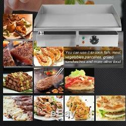 1500W 110V 22 Commercial Stainless Steel Electric Griddle Grill Home BBQ PlateY