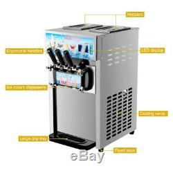 18L/H Commercial Soft Serve Ice Cream Maker Stainless Steel Ice Cream Machine