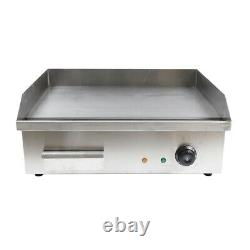 22 Electric Countertop Flat Top Griddle 3000W Non-Stick Commercial Restaurant