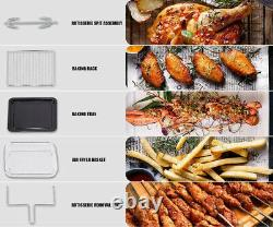 24 QT Air Fryer Oven 1900W Countertop Toaster Oven Rotisserie Bake Rack Included