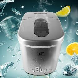 2.2L Portable Countertop Ice Cube Maker Compact Tabletop Touch Control 26 lb/day
