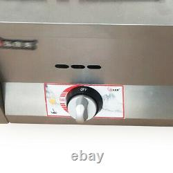 2 Pan Commercial 6L Gas Fryer Food Warmer Buffet Countertop Steam Table Steamers