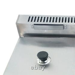 2 Pan Commercial Gas Feyer Deep Fryer Countertop Gas Fry 2 Pot Stainless Steel