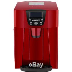 2 in 1 Electric Ice Cube Maker Compact Countertop Water Dispenser Machine Red