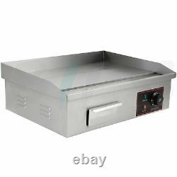 3000W 22Stainless Steel Electric Countertop Griddle Flat Top Restaurant BBQ