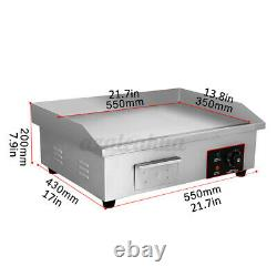3000W Electric Countertop Griddle Grill Commercial Flat Top Non-Stick BBQ Plate
