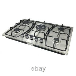 30 Gas Cooktop Built in Gas Stove 5 Burners Gas Stoves LPG/NG Convertible US