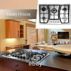 30 inches Gas Cooktop 5 Burners Gas Stove Stainless Steel Cooktop