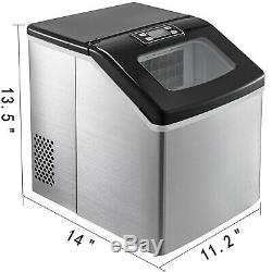 40Ibs/18kg Countertop Ice Maker Portable Clear Ice Cubes Kitchen NEW GENERATION