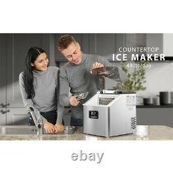 40lbs Electric Ice Maker Portable Countertop Cube Making Machine with Scoop S/M/L