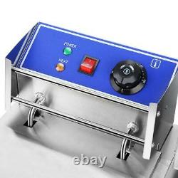 5000W 12L Stainsteel Electric Deep Fryer Dual Tank Commercial Restaurant US