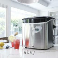 50 lb Stainless Steel Portable Ice Maker Nugget Pellet Countertop Machine Office