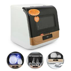 5L Portable Compact Countertop Dishwasher 75 360° Deep Cleaning + Fan Drying