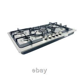 5 Burners Gas Stove 35 Built-In Gas Cooktop Stainless Steel Natural Gas Propane