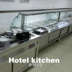 5 Pan Bain Marie Electric Food Warmer Buffet Steam Commercial Large Countertop