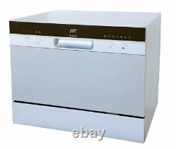 6 Place Settings Silver Countertop Dishwasher with Delay Start and LED display