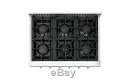 6 burners Range Cooktop stove 36 Inch Rangetop Stainless Steel Thor Kitchen