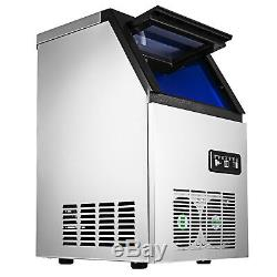 AC110V Auto Commercial Ice Maker Cube Machine 50KG Stainless Steel Bar 230W