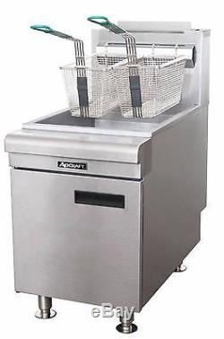Adcraft BDCTF-60/LPG 35-40 lb. Countertop LP Gas Fryer with Stainless Steel Tank