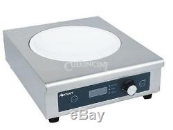 Adcraft Wok Induction Cooker Glass Stainless Steel Commercial Ind-Wok208V