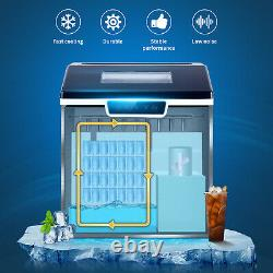 Anbull Portable Ice Maker Shaver Machine Countertop 2-in-1 44Lbs/24H 18pcs