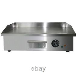 BBQ 25.5 Countertop Electric Flat Griddle 1600W Restaurant Top Grill Commercial