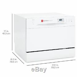 BCP Stainless Steel Kitchen Dishwasher with 6 Place Setting Compact Design White