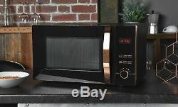 Brooklyn Black & Rose Gold Microwave, Kettle & Toaster Set + FREE CANISTERS