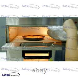 Commercial 3000W Electric Pizza Oven Twin Deck Double Deck Baking 2 Fire Stone