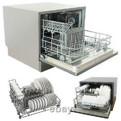 Countertop Dishwasher Machine Compact Portable Stainless Steel 6 Place Settings