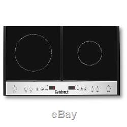 Cuisinart ICT-60 Energy Saving Double Induction Stove Cooktop Surface, Black