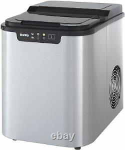 Danby 25 lbs. Countertop Ice Maker Stainless Steel