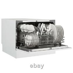 Danby 6 Place Setting Energy Star LED Countertop Dishwasher, White (For Parts)