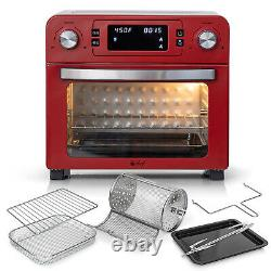 Deco Chef 24QT Countertop Toaster Oven Air Fryer, Red