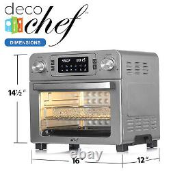 Deco Chef 24QT Stainless Steel Countertop Toaster Air Fryer Oven + Accessories