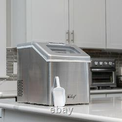 Deco Chef Countertop Portable Ice Maker Home or Office 40 lb/Day Stainless Steel
