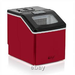 Deco Chef Countertop Portable Ice Maker for Home or Office, 40 lb/Day, Red