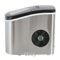 Deco Chef Stainless Steel Ice Maker Compact Top Load 26Lbs. Per Day IMSTS