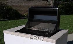 EasyChef Charcoal Counter Top BBQ Grill 30 -with Black Hood (Island not Included)