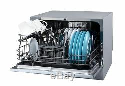 EdgeStar DWP62 22 Wide 6 Place Setting Energy Star Rated Countertop Dishwasher
