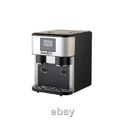 ElectriQ Counter Top Ice Maker With Ice Crusher and Water Dispenser in Stainless