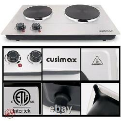 Electric Cooktop Burner Double Stove Hot Plate Countertop Portable Cooking Iron