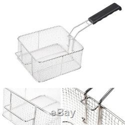 Electric Deep Fryer with Drain Timers Commercial Countertop Fry Basket Restaurant