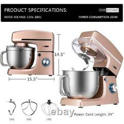 Electric Food Stand Countertop Mixer 7.5Quart 660W 6 Speed Stainless Steel Bowl