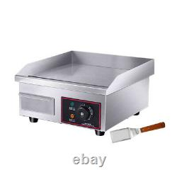 Electric Griddle Flat Top Grill 1500W 14 Hot Plate BBQ Countertop Commercial
