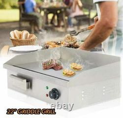 Electric Griddle Flat Top Grill 3000W 22 Hot Plate BBQ Countertop Home US