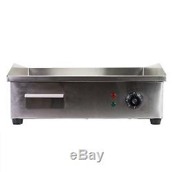 Electric Indoor Grill Counter top Griddle Adjustable Chef Thermostatic Control